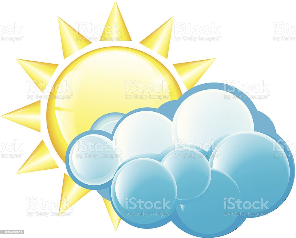 Cloudy Icon royalty-free stock vector art