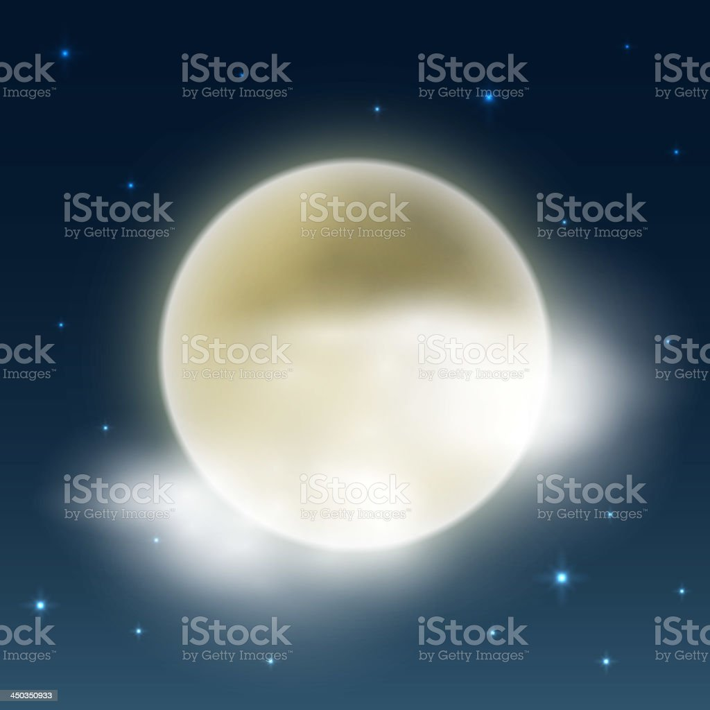 Cloudy night weather royalty-free stock vector art