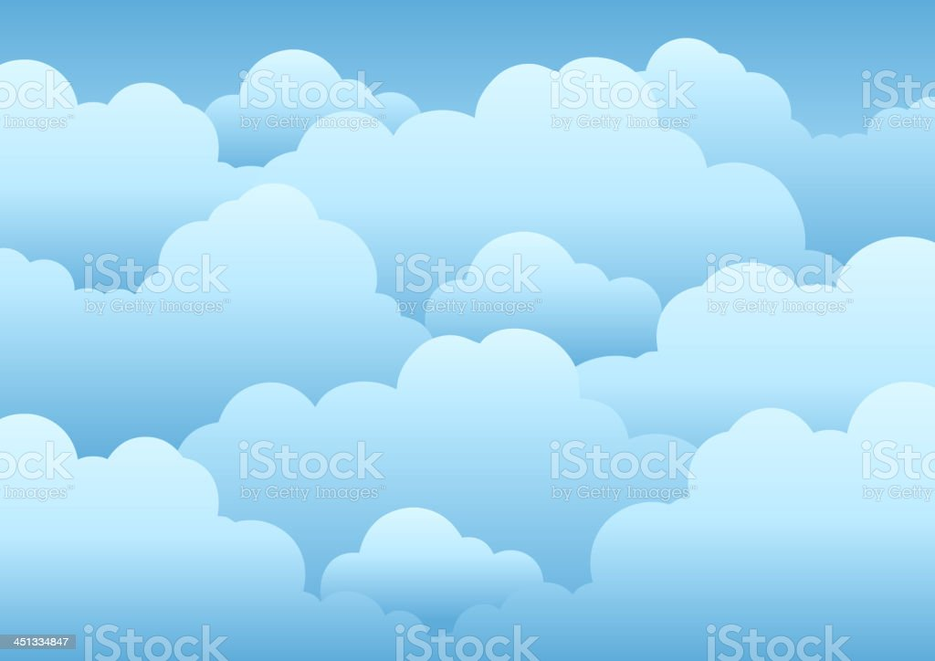 Cloudy sky background 1 royalty-free stock vector art