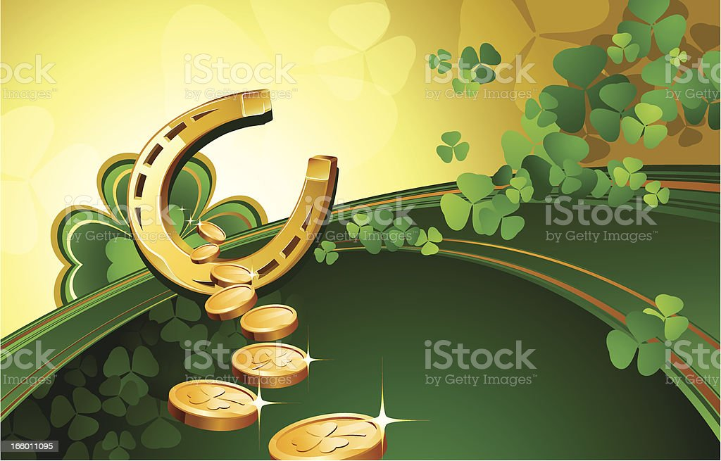 Clover and coins royalty-free stock vector art