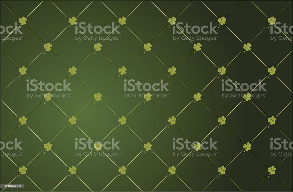 Clover background for St. Patrick's Day royalty-free stock vector art