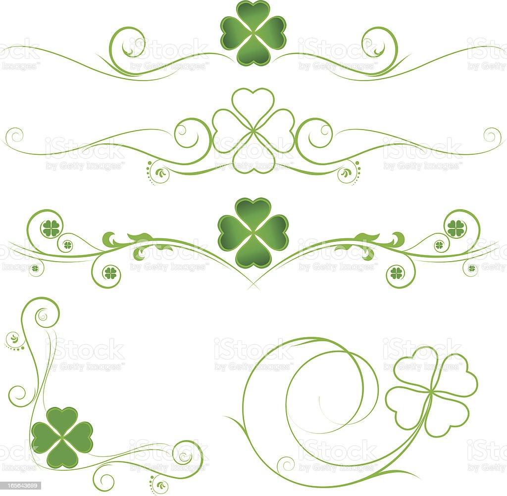 clover design elements royalty-free stock vector art