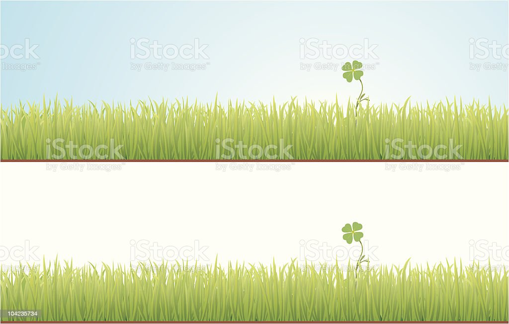 Clover in the Grass royalty-free stock vector art