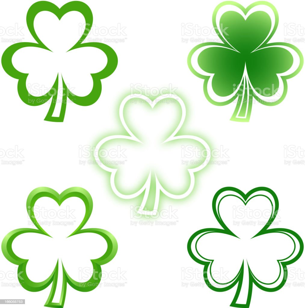 Clover Leaf Icon royalty-free stock vector art
