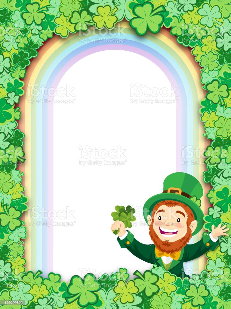 Clover Leaf Poster royalty-free stock vector art