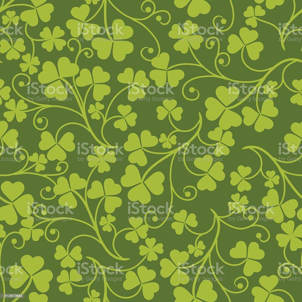 Clover pattern. vector art illustration