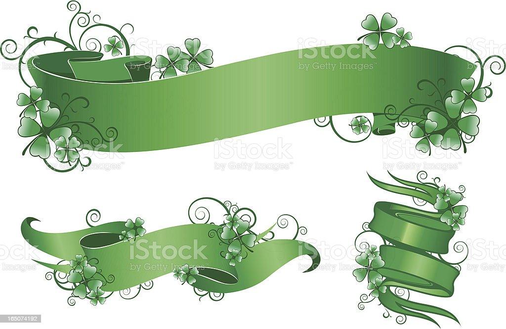 clover scroll royalty-free stock vector art