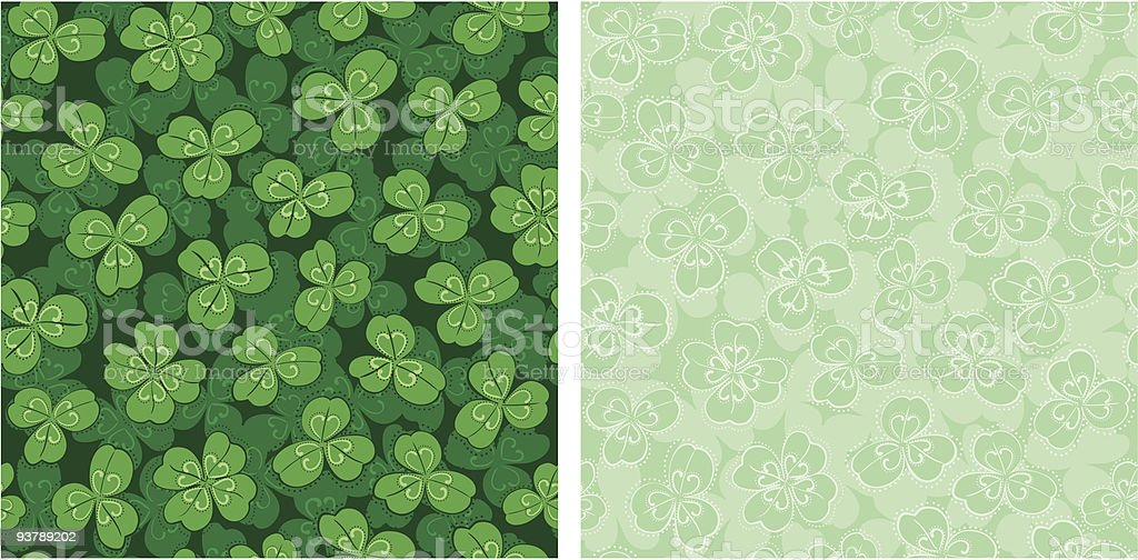clover seamless backgrounds royalty-free stock vector art