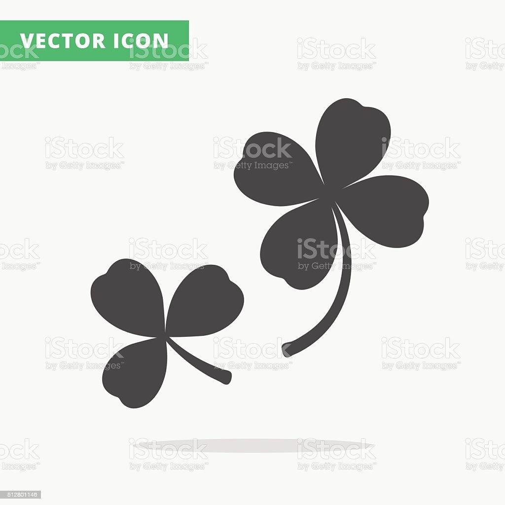 clover silhouettes sign vector art illustration