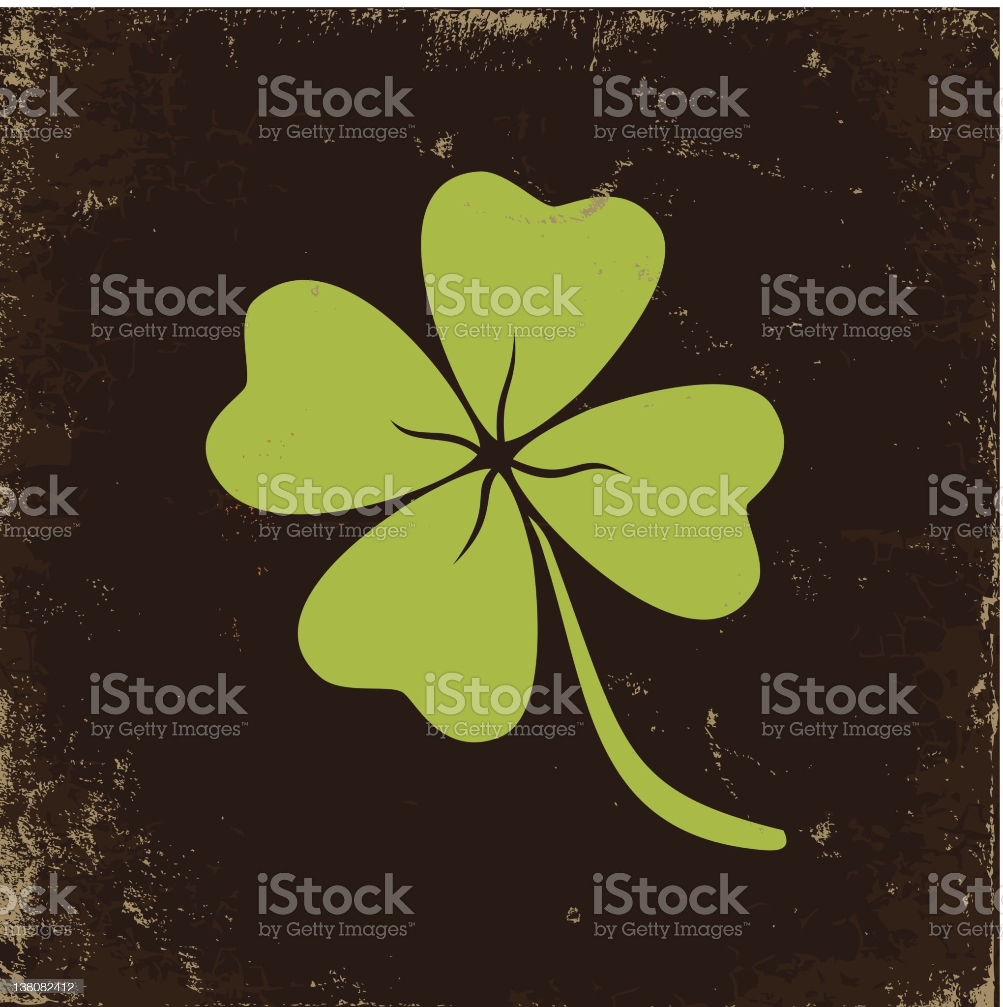 Clover with four leaves royalty-free stock vector art