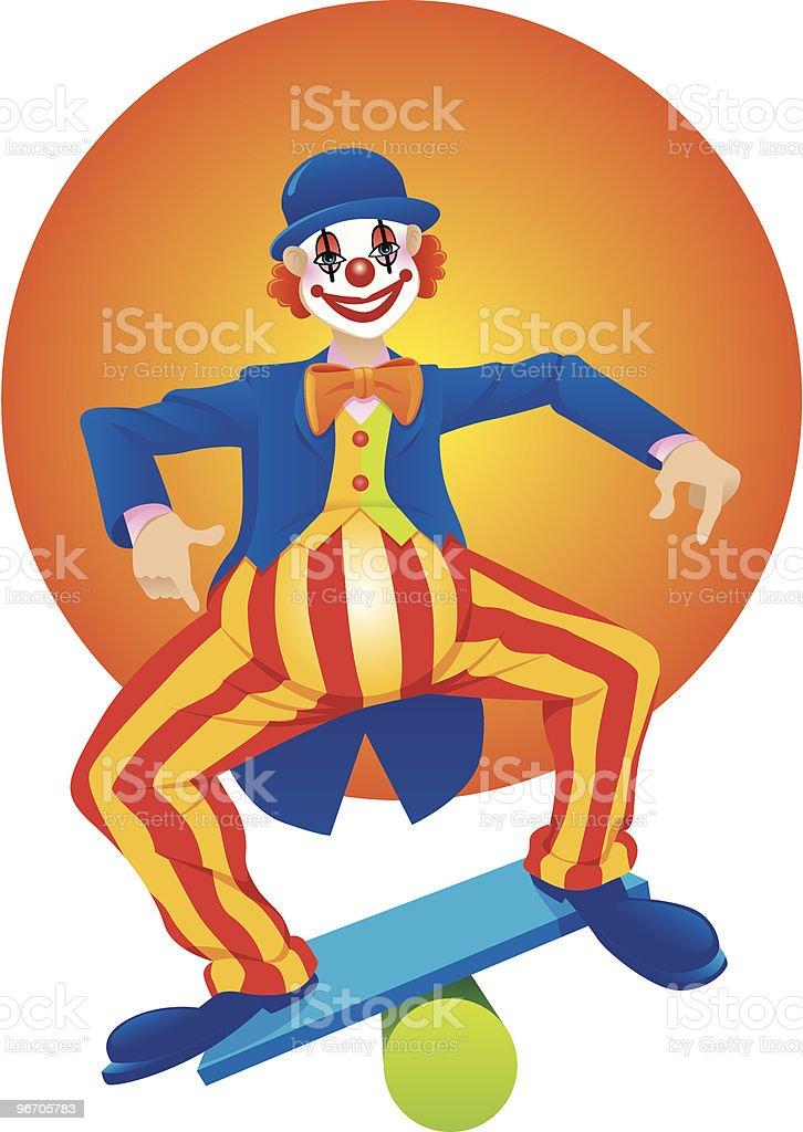 clown balancing royalty-free stock vector art