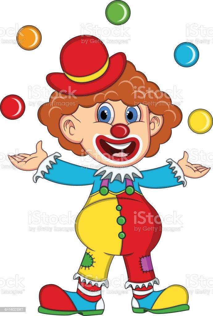 Clown cartoon vector art illustration