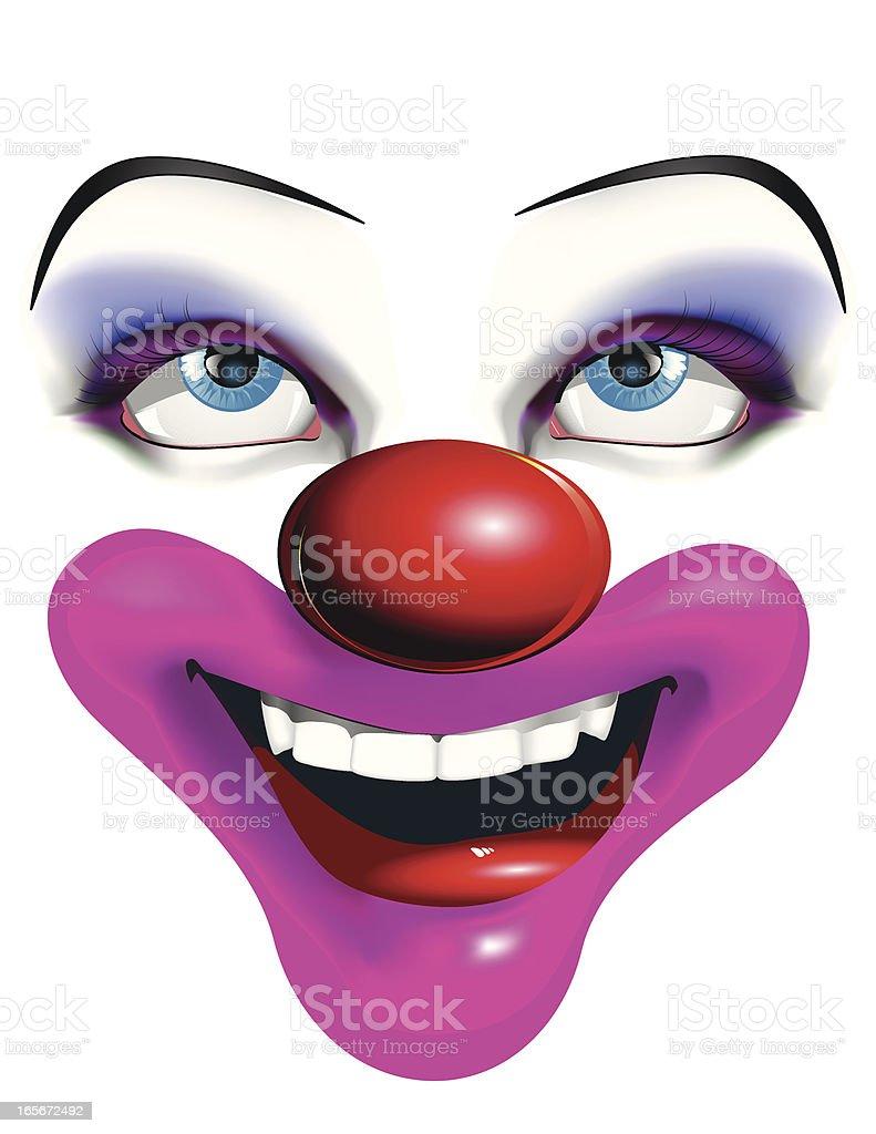Clown Face vector art illustration