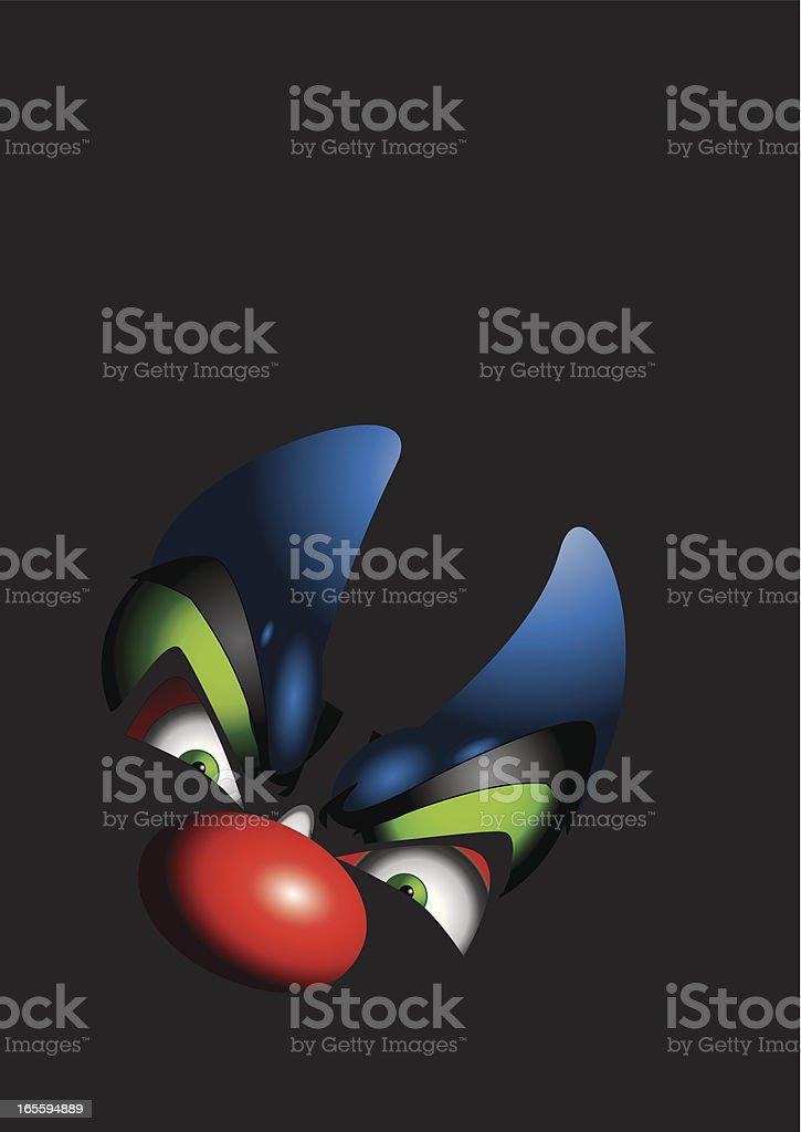 Clown fear of the dark royalty-free stock vector art