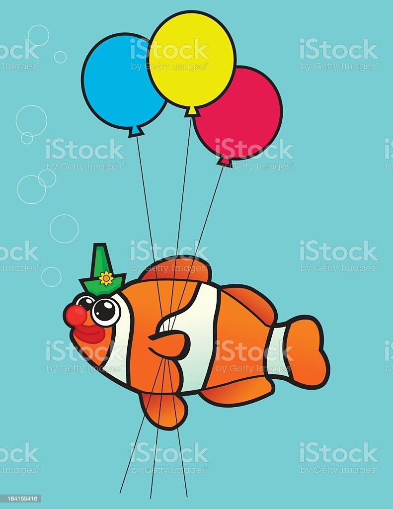 Clown Fish vector art illustration
