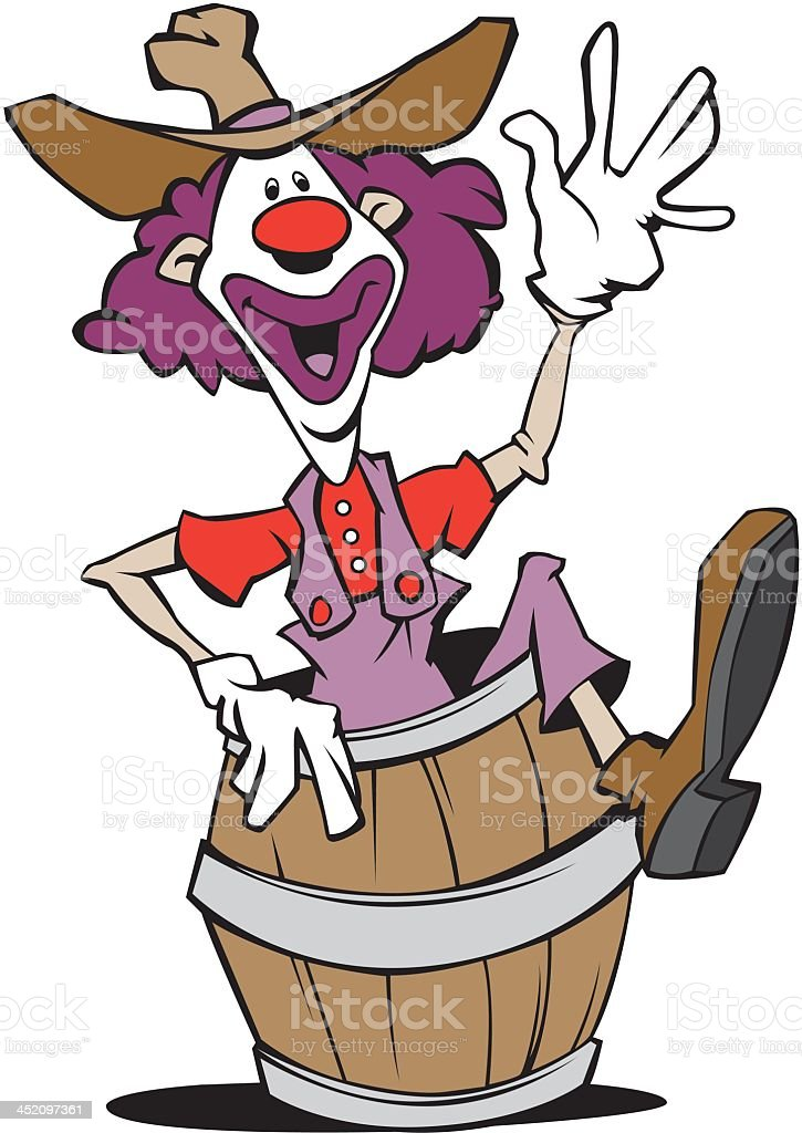 Clown In A Barrel royalty-free stock vector art
