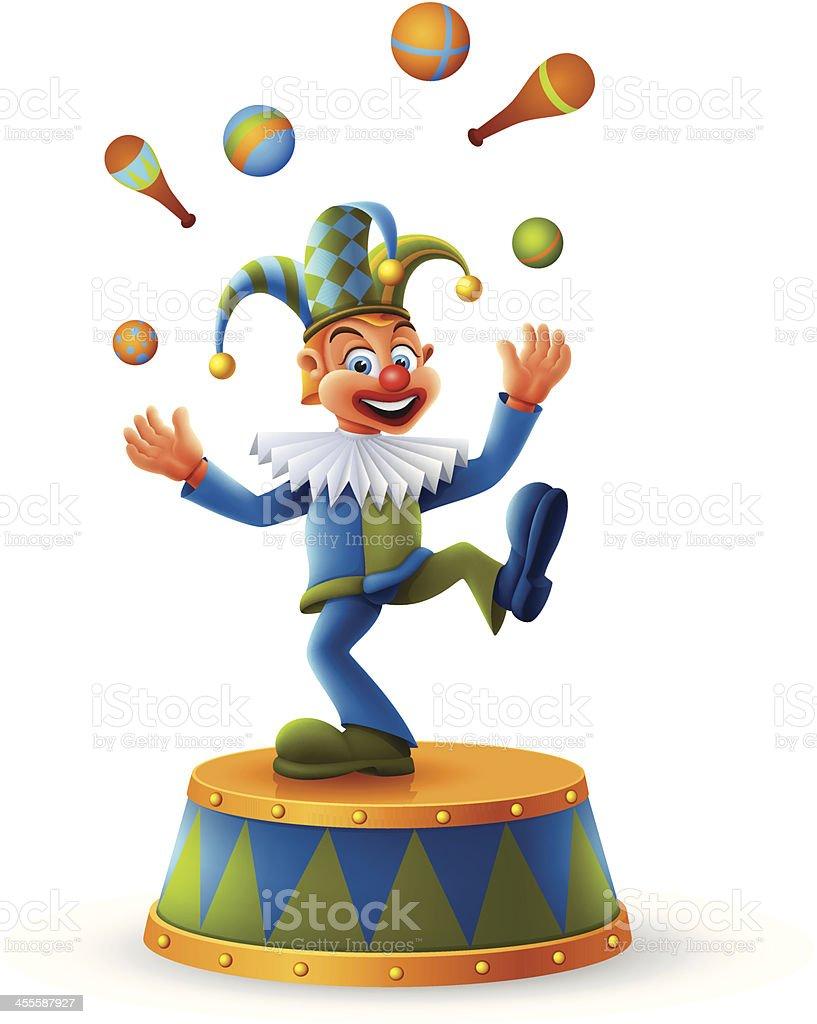 Clown juggling royalty-free stock vector art