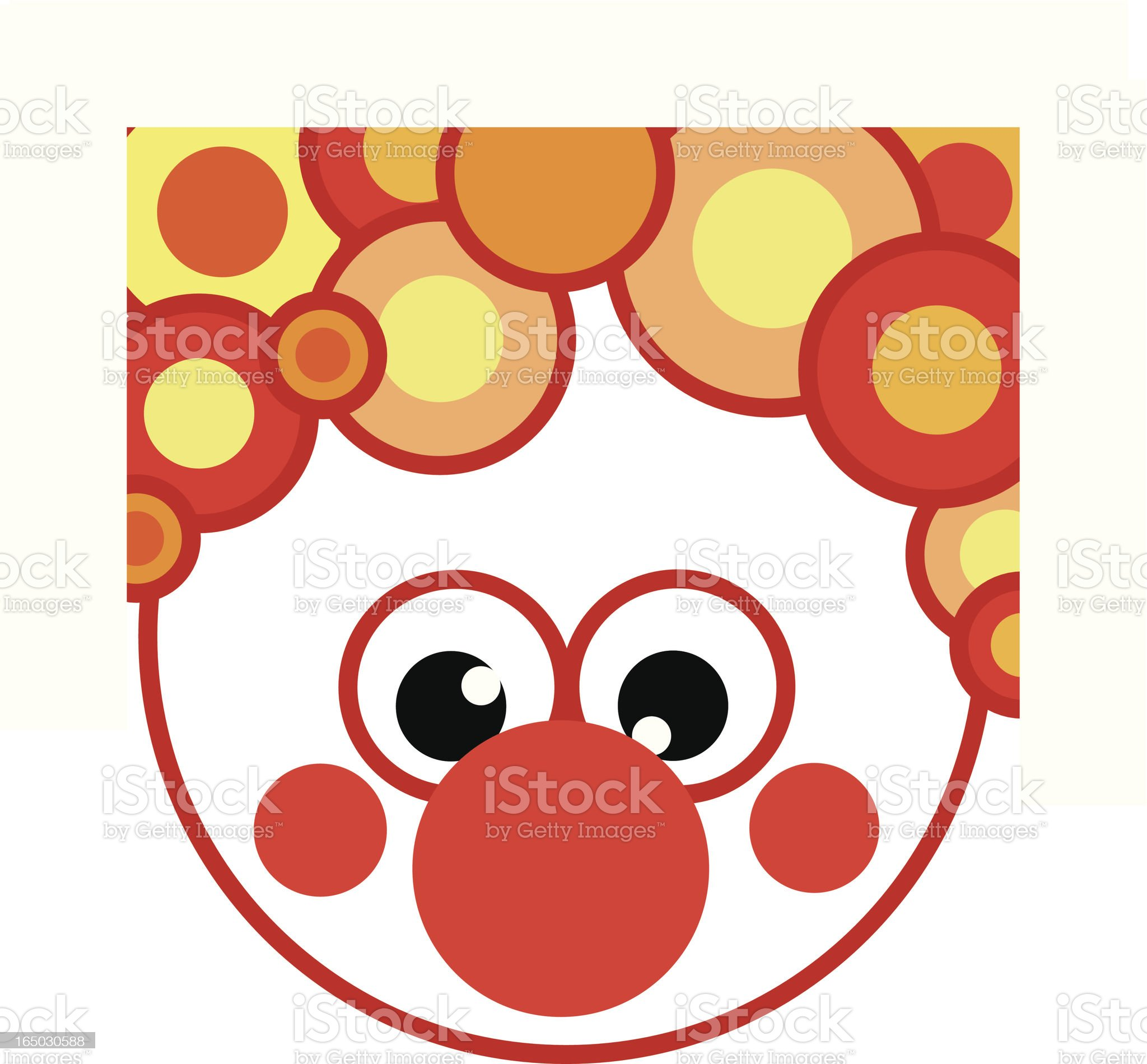 Clown no 2 from 'bubble series' royalty-free stock vector art