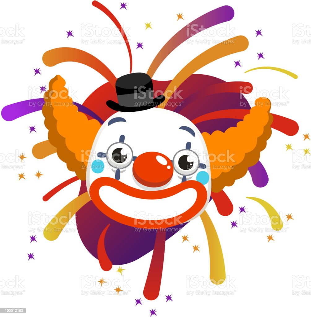 Clown sparks royalty-free stock vector art