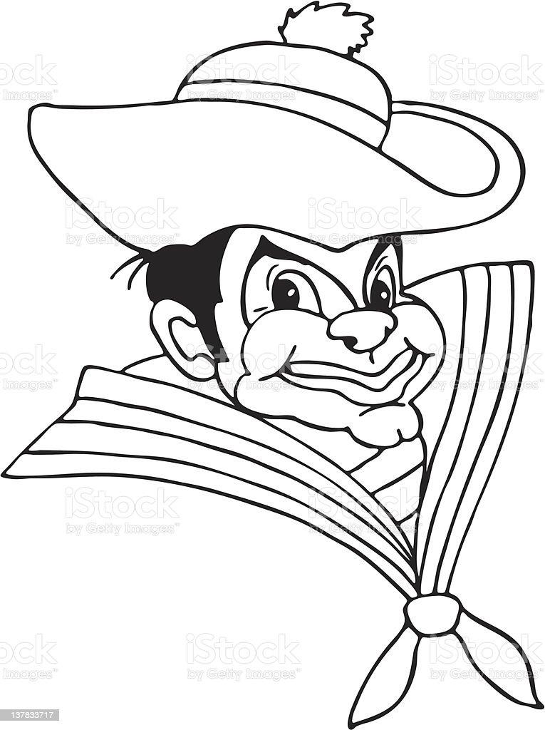 clown the sailor royalty-free stock vector art