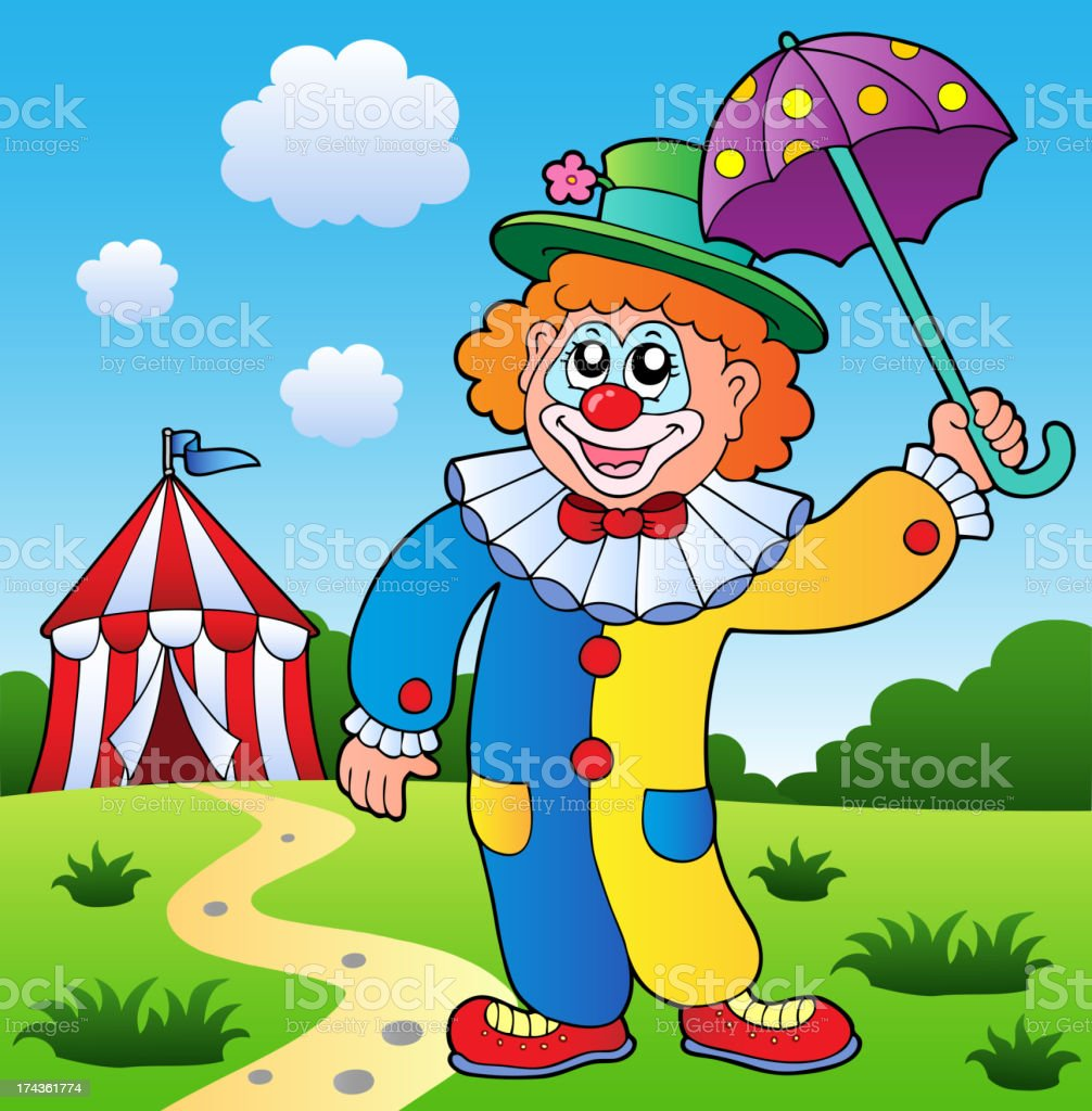 Clown theme picture 4 royalty-free stock vector art