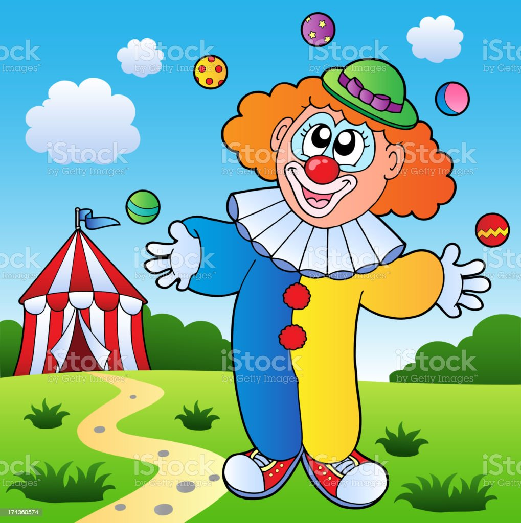 Clown theme picture 7 royalty-free stock vector art