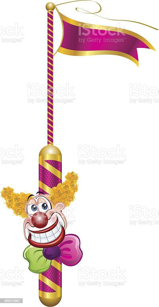 Clown Vector - Circus Icons - Vector Illustration royalty-free stock vector art