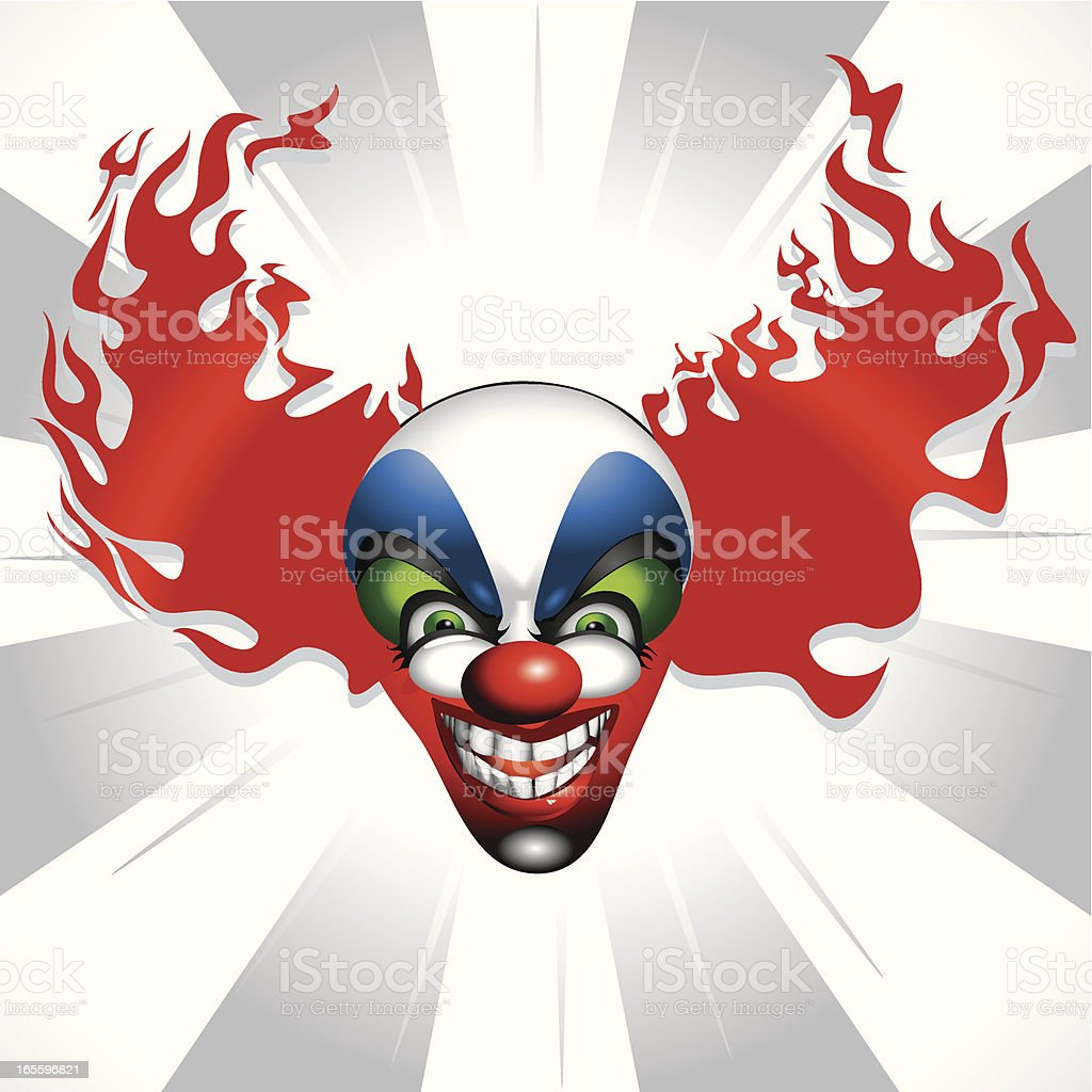 Clown with red hair royalty-free stock vector art