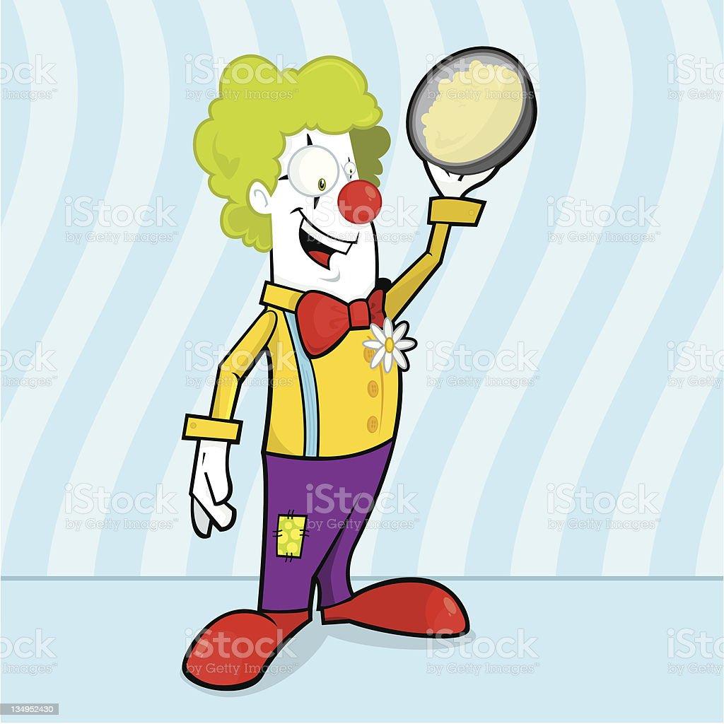 Clowning around vector art illustration