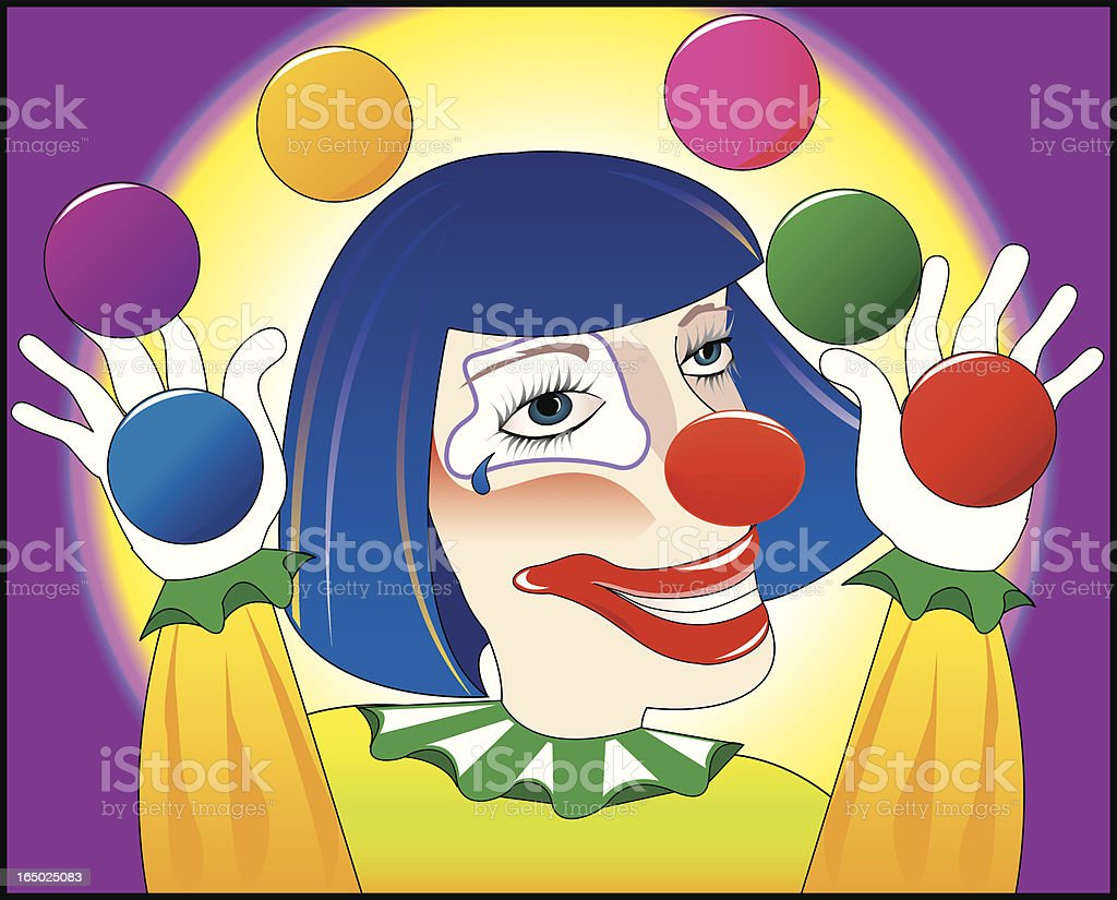 Clowning Around royalty-free stock vector art