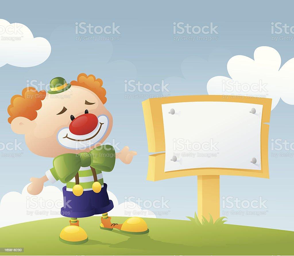 Clown's Announcement vector art illustration