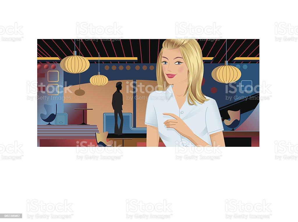 Club Girl and Boy vector art illustration