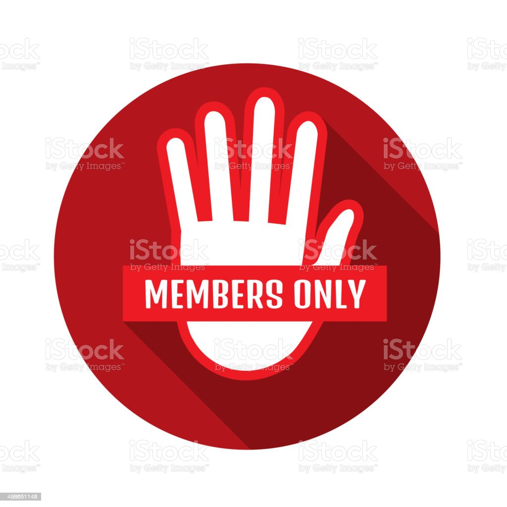 VIP Club members only banner vector art illustration