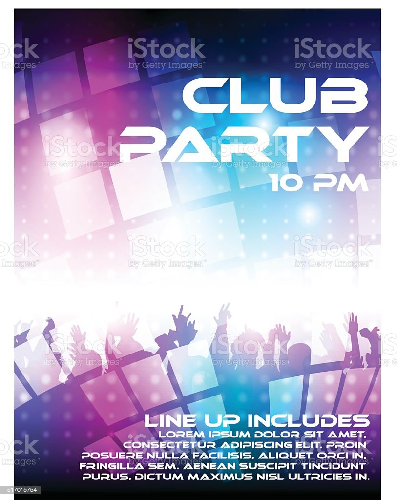 Club party vector art illustration