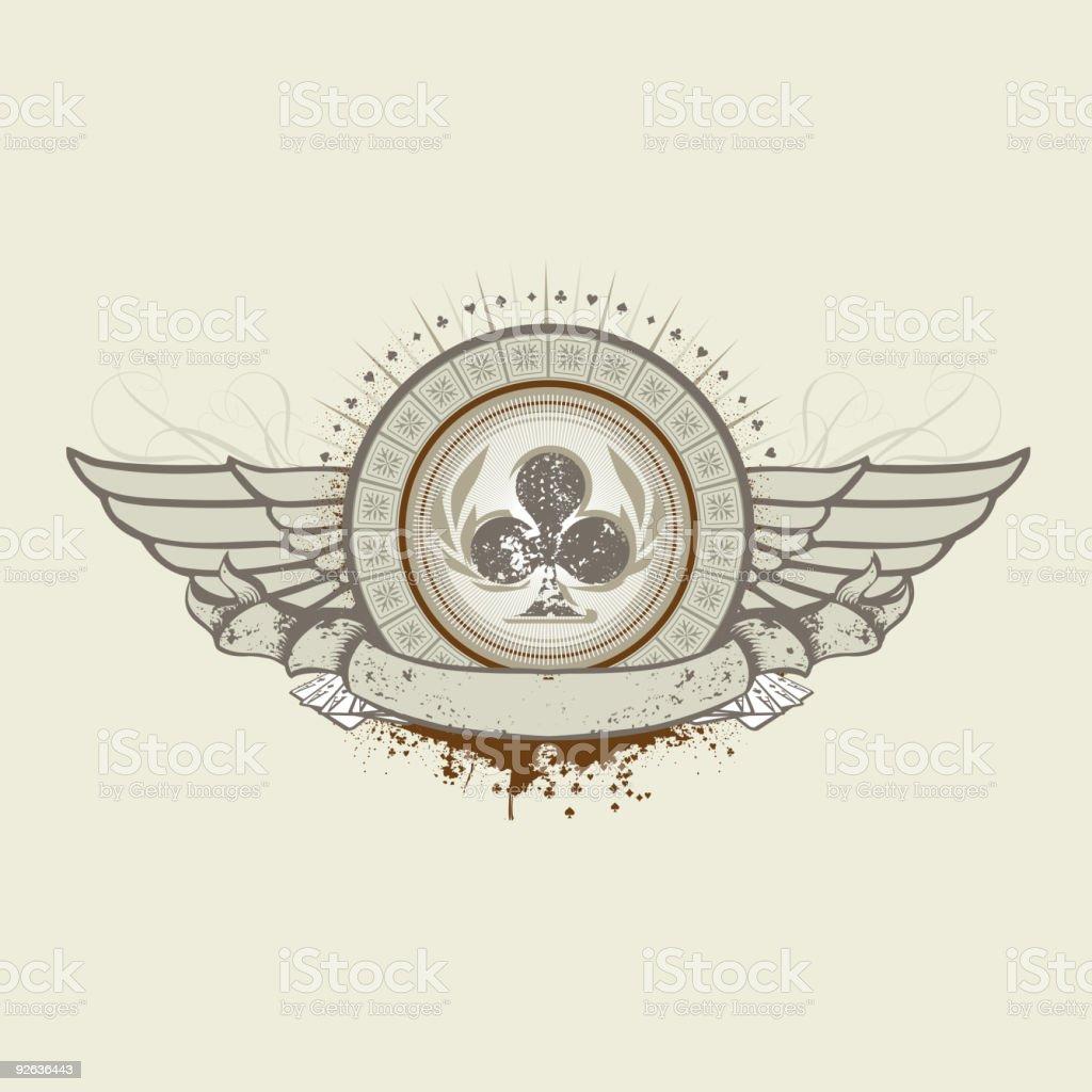 Club Suit emblem royalty-free stock vector art