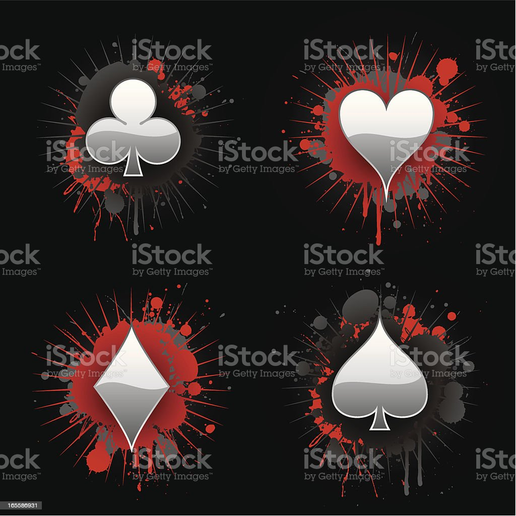 Clubs, hearts, diamonds, spades royalty-free stock vector art