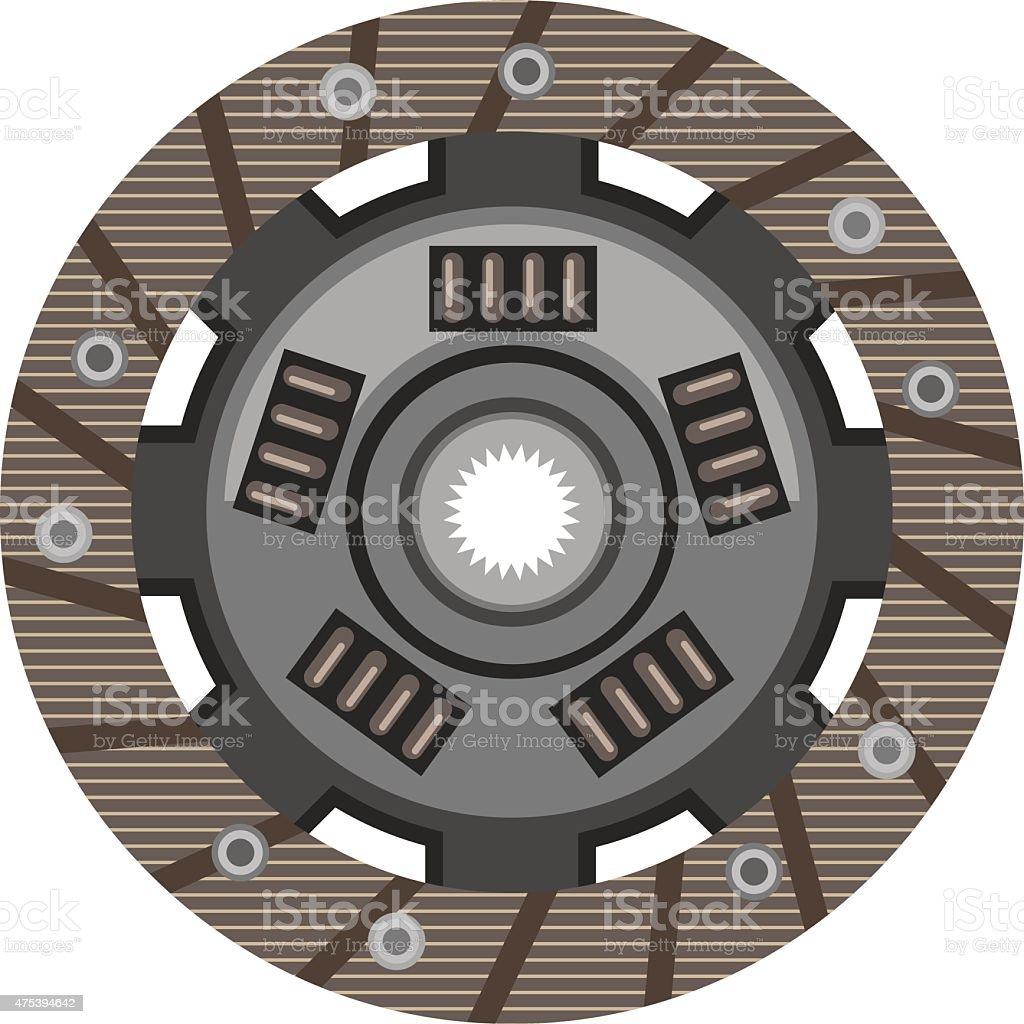 Clutch disc vector vector art illustration