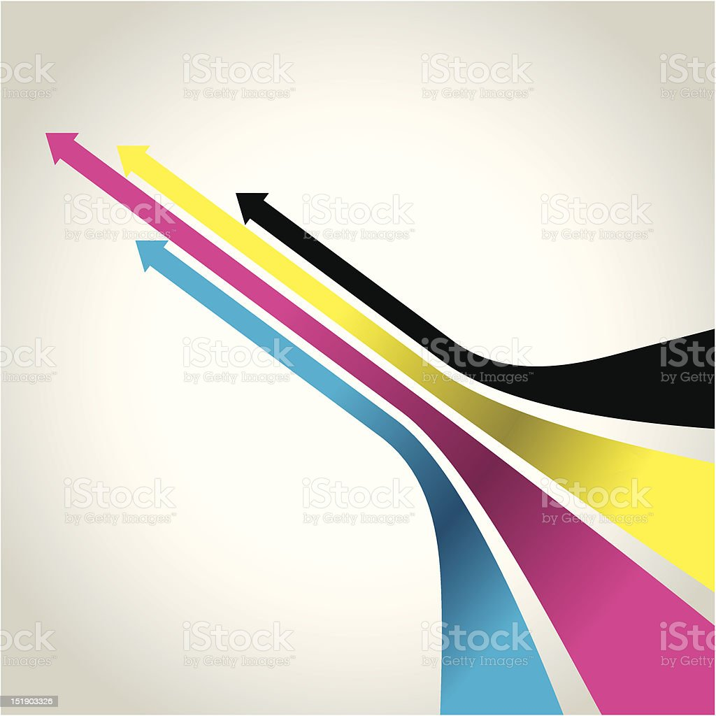 cmyk arrows vector art illustration