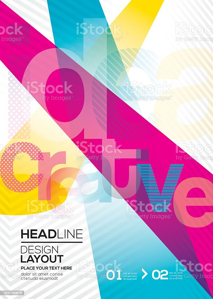 cmyk Vector Abstract design layout background vector art illustration