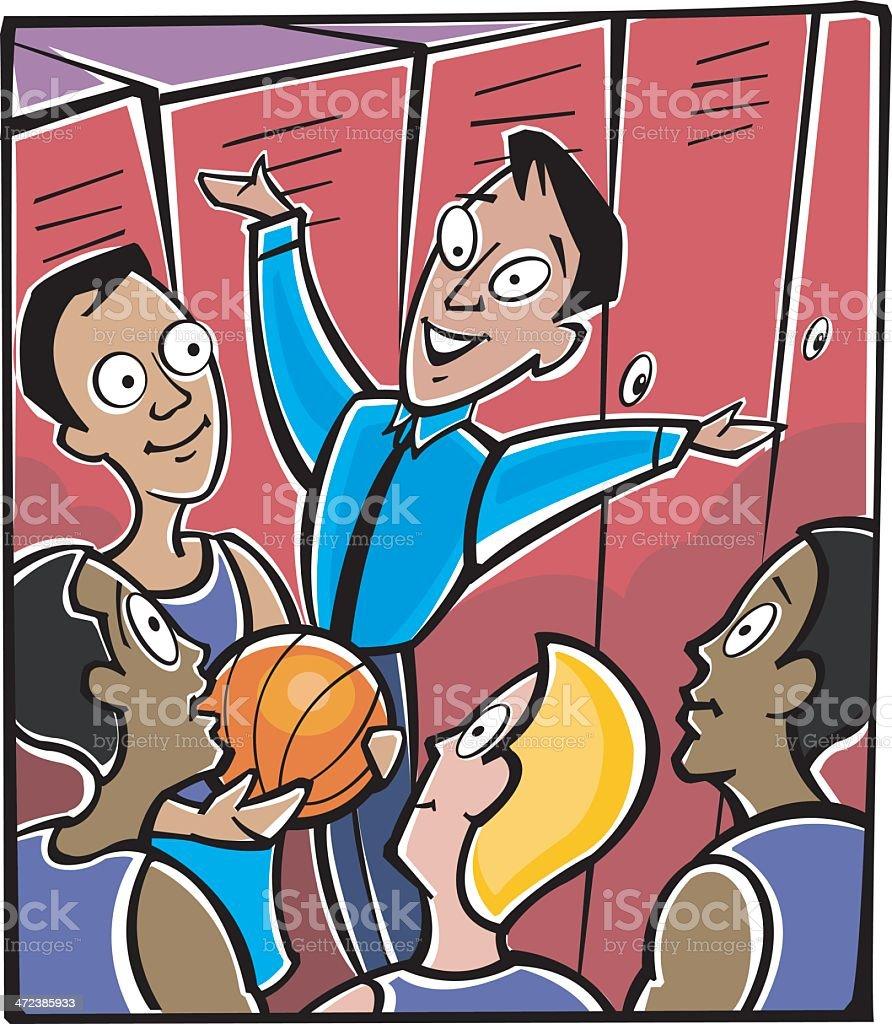 Coach Team Lockers C vector art illustration