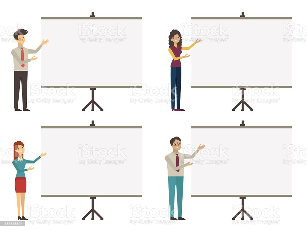 coaching presentation vector art illustration