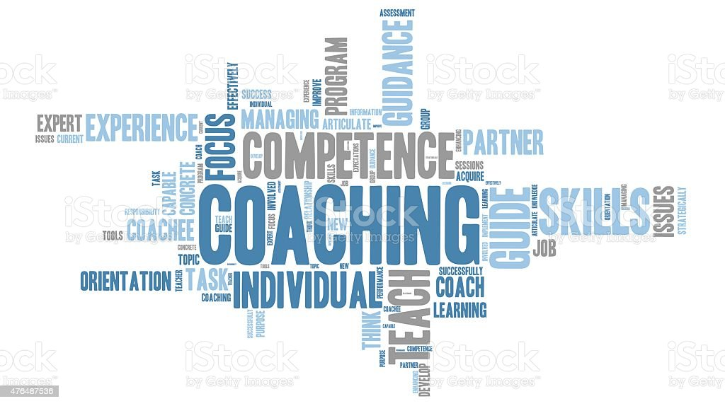 Coaching - teaching Word Clouds vector art illustration