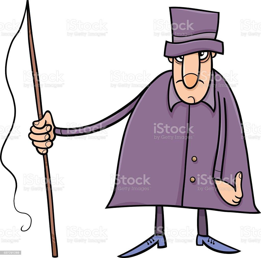 coachman character cartoon illustration vector art illustration