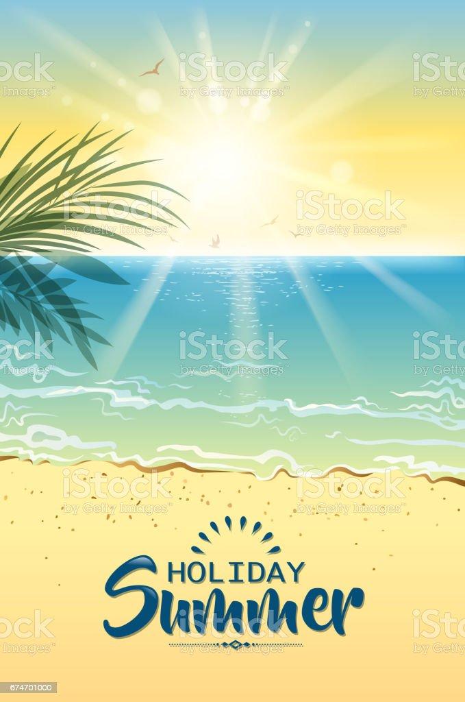 coast background vector art illustration