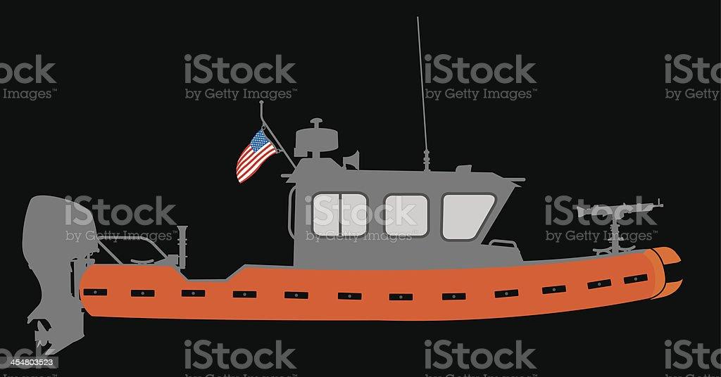U.S. Coast Guard Boat royalty-free stock vector art