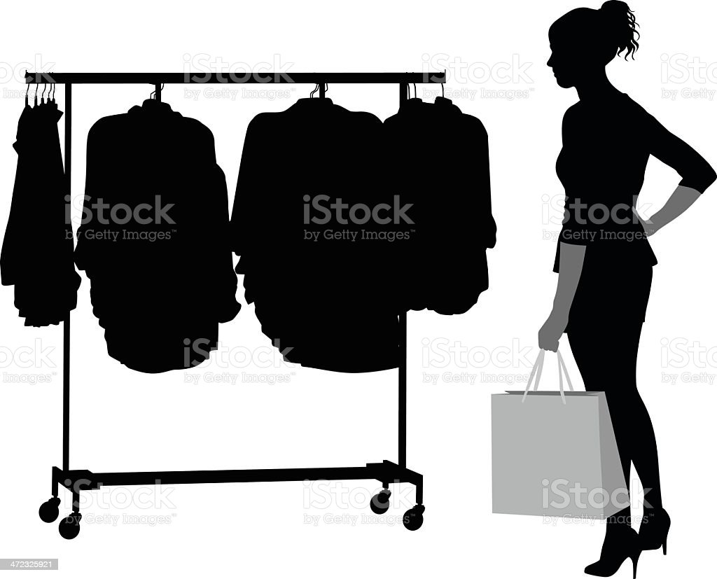 Coat Hanger royalty-free stock vector art