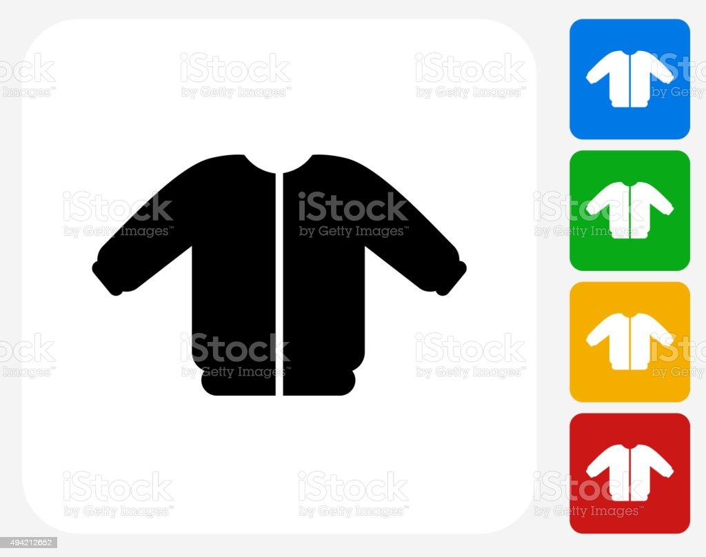 Coat Icon Flat Graphic Design vector art illustration