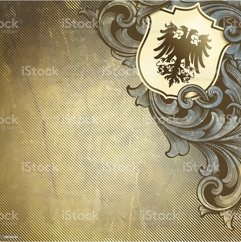 Coat of Arms Intertwine royalty-free stock vector art