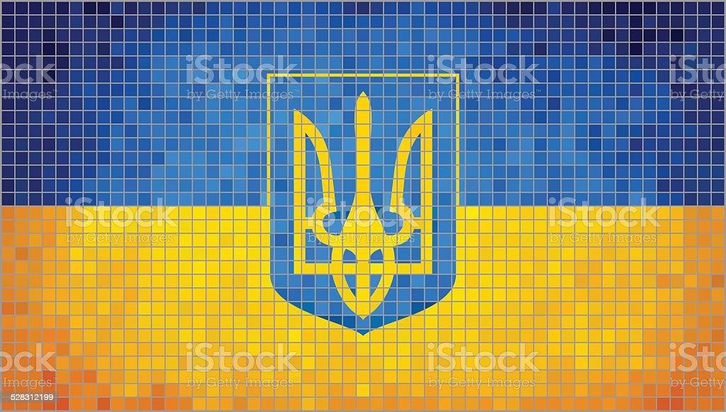 Coat of arms of Ukraine vector art illustration