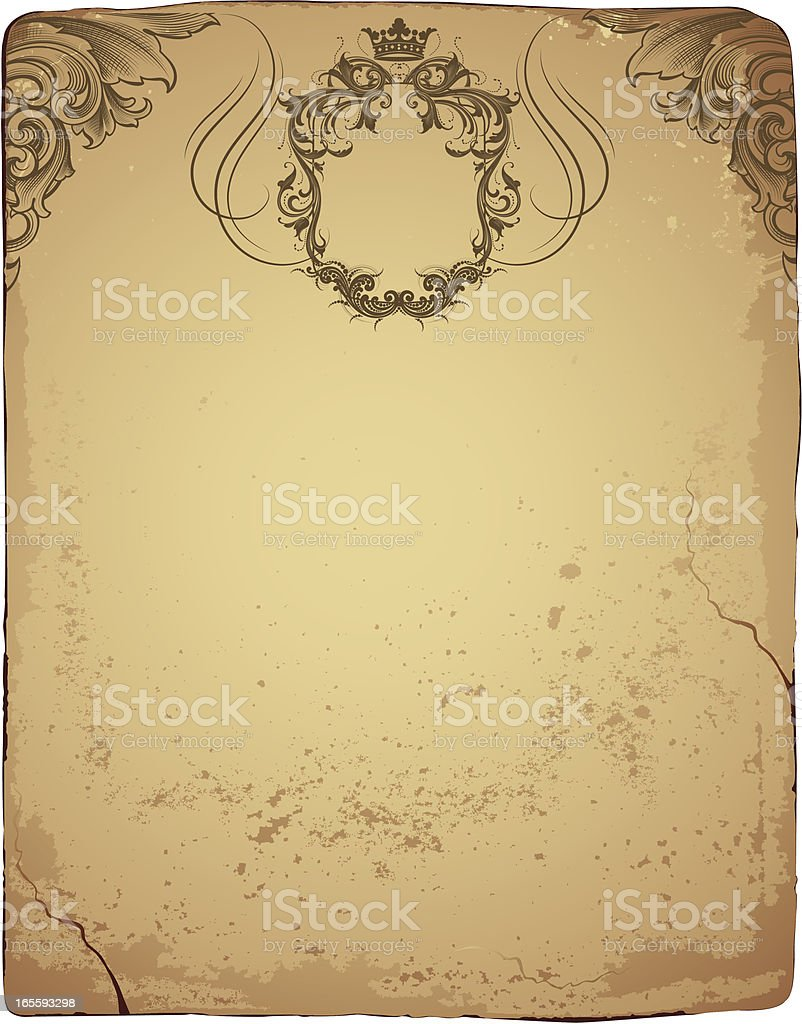 Coat of Arms Paper royalty-free stock vector art